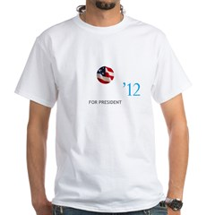 OBAMA12LOGOTTR White T-Shirt