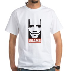 Comic Style Barack Obama White T-Shirt