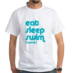 Eat, Sleep, Swim White T-Shirt