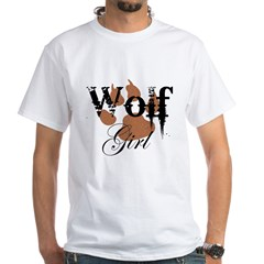 Wolf Girl White T-Shirt