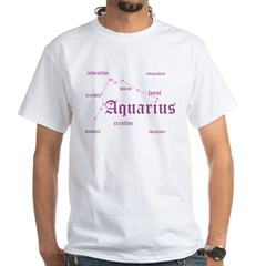 Aquarius White T-Shirt