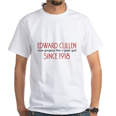 Edward - Greek God Since 1918 White T-Shirt