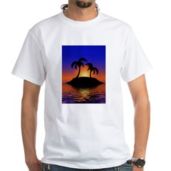 sunrise-sunset--palm-tree-s.jpg White T-Shirt