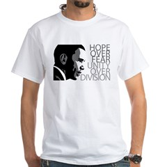Obama - Hope Over Division - Grey White T-Shirt