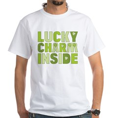 Lucky Charm Inside White T-Shirt