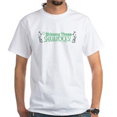 Irish David Shamrock White T-Shirt