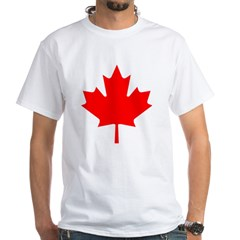 Maple Leaf White T-Shirt