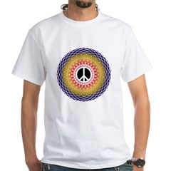PeaceMandala White T-Shirt