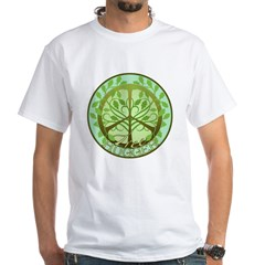 Peaceful Tree Hugger White T-Shirt