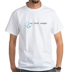 My Little Nudger (boy) White T-Shirt