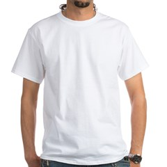 Driving Daschund White T-Shirt