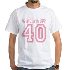 Cougars 40 White T-Shirt
