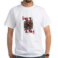 Queen of Hearts White T-Shirt