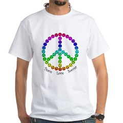 Peace.Love.Soccer White T-Shirt