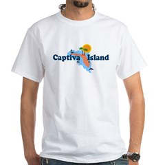 Captiva Island FL - Map Design White T-Shirt