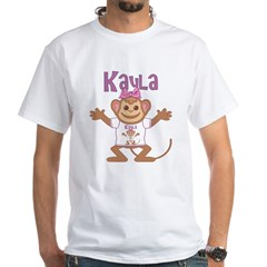 Little Monkey Kayla White T-Shirt