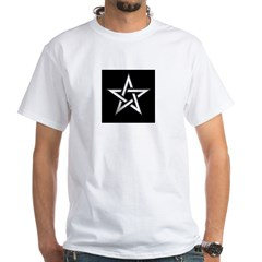 Wiccan Pentagram White T-Shirt