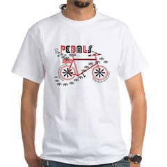 Pedals Cyclist Men's double dry short sleeve mesh White T-Shirt