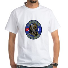 NAVY DIVER White T-Shirt