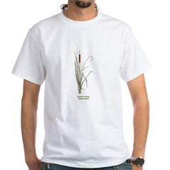 Common Cattail White T-Shirt