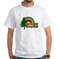 Earth Day Every Day Retro White T-Shirt