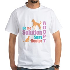 New Be The Solution White T-Shirt