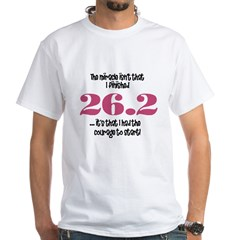 26.2 Courage to Star White T-Shirt