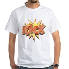 KICK! White T-Shirt