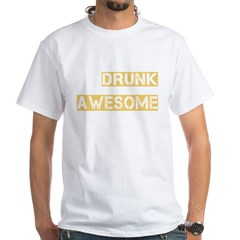 drunk awesome_dark White T-Shirt