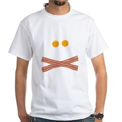 Eggs Bacon Skull White T-Shirt