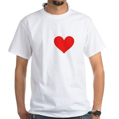 I Heart Volleyball: White T-Shirt