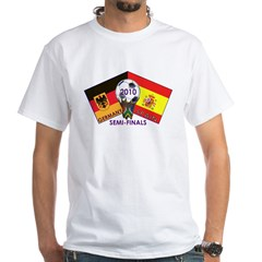 Germany vs. Spain 2010 Soccer White T-Shirt