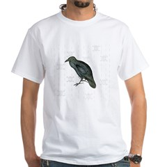 Crow / Raven - White T-Shirt