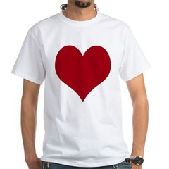 - Heart/Love Design White T-Shirt