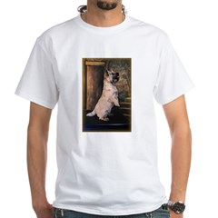 &quot;Sitting Pretty&quot; Cairn Terrier White T-Shirt