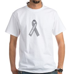 Brain Cancer Hope White T-Shirt