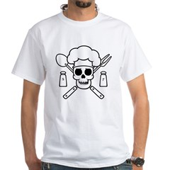 chef-pirate-T White T-Shirt