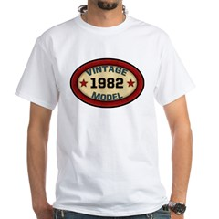 Birthday Vintage Model Year White T-Shirt