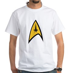 Starfleet Command White T-Shirt