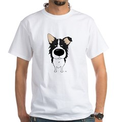 Big Nose/Butt Border Collie White T-Shirt
