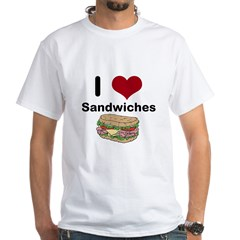 i love sandwiches White T-Shirt