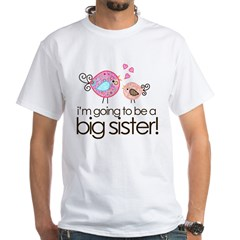 MASTER whimsy birds back White T-Shirt