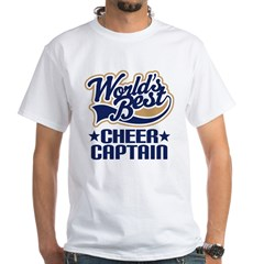 Cheer Captain White T-Shirt