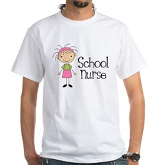 School Nurse White T-Shirt