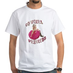 Cowgirl Princess Larger White T-Shirt