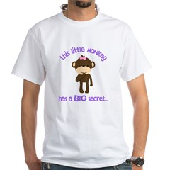 big sister pink brown flower White T-Shirt