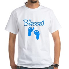Blessed Blue Feet White T-Shirt