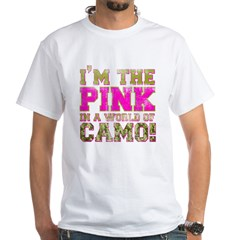 pink White T-Shirt