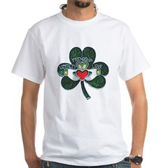 Shamrock Claddagh Women's White T-Shirt