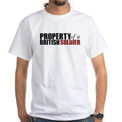 Property of a British Soldier - White T-Shirt